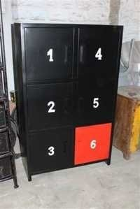 Iron wardrobe with 6 apart box