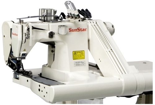 Direct Drive, Feed-off-the-Arm, 3-Needles, 6-Threads, Double Chain Stitch Sewing Machine