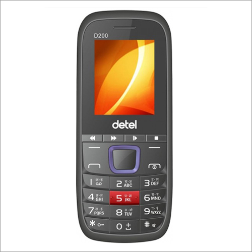 Detel D200 dual sim mobile - Black & Blue
