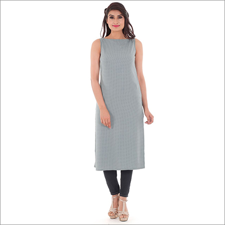 Ladies Rayon Sleeveless Kurtis