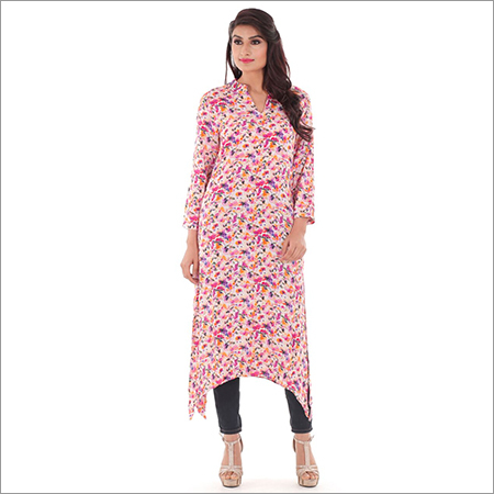 Ladies Multi Coloured Print Kurti