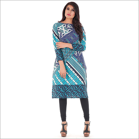 Ladies Digital Print Trendy Kurtis