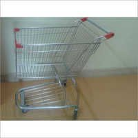 Mild Steel Basket Shopping Trolley