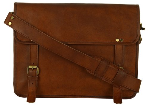 Simple Leather Satchel Bag