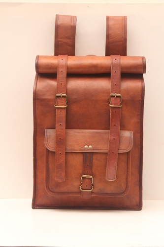 Leather Luggage Backpack Bag