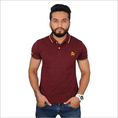 Customized Maroon Polo T-Shirt