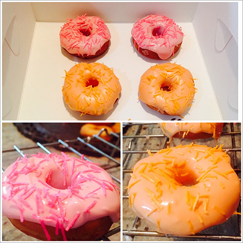 Strawberry And Orange Donuts