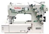 High-Speed, 2-Needle, Chain Stitch, Sewing Machine with Automatic Trimmer
