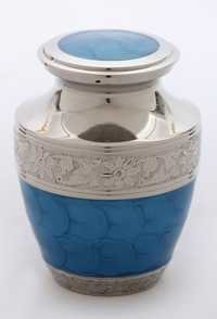 Royal Blue Enameled Silver Engraved