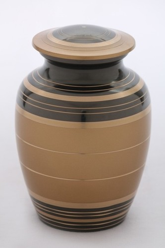 Golden & Black Pet Urn