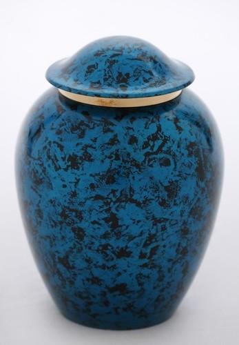 Blue Black Shaded Pet Urn