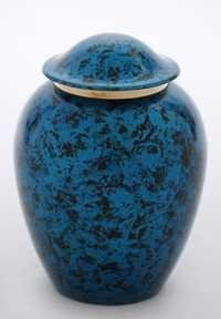 Blue Black Shaded Pet Urn