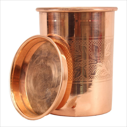 Copper Glass with Coaster