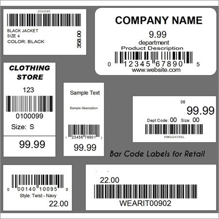 Barcode Labels For Retail