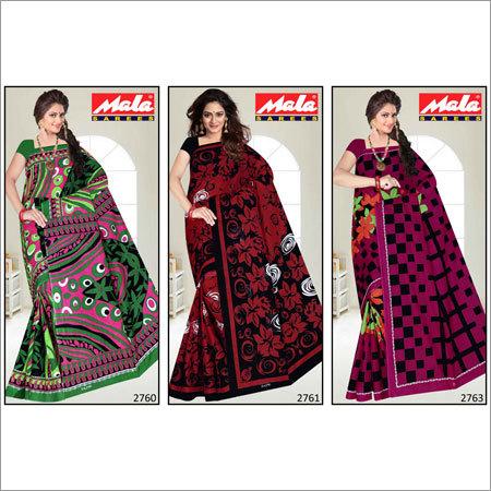 Stylish Cotton Printed Saree