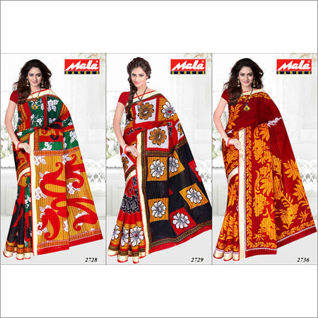Printed Cotton Saree Fabrics