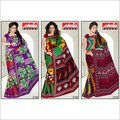 100% Pure Cotton Printed Saree