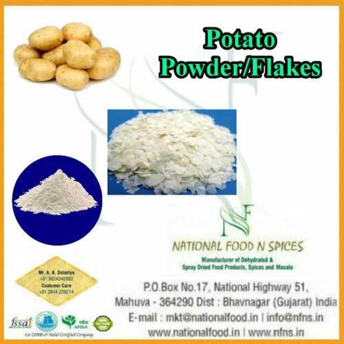 Potato Powder Certifications: Spices Board Fssai Iso