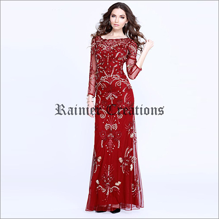 Ladies Designer Embroidery Gown