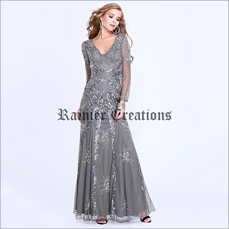 Ladies Full Sleeves Designer Gown