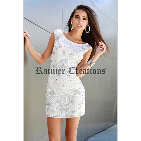 Ladies White One Piece Dress