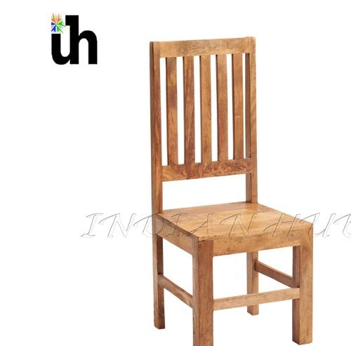 Light Mango Slat Back Dining Chair
