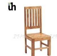 Light Mango Slat Back Dining Chair