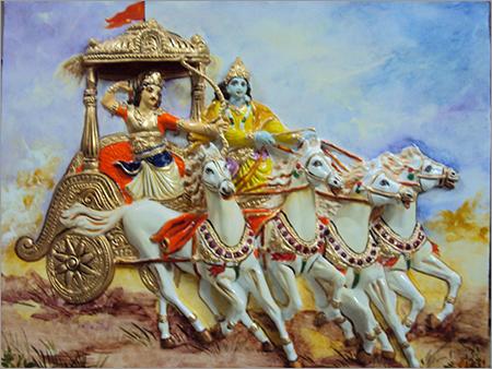 Krishna Arjun Mural