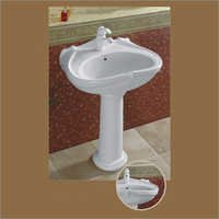 Plain White Pedestal Wash Basin