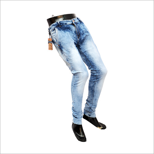 Mens Blue Shaded Jeans