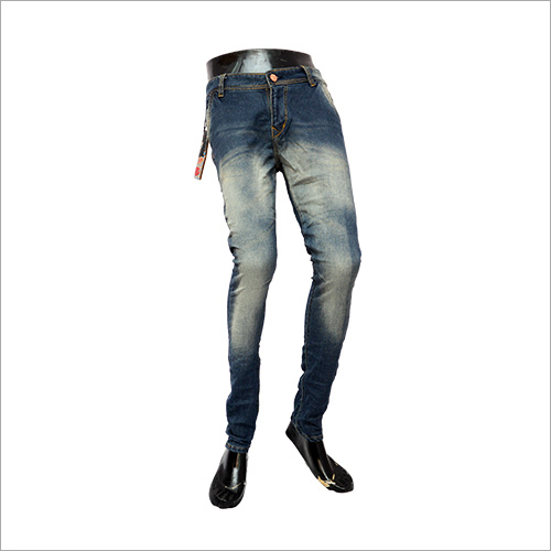 Dark Blue Shaded Slim Fit Denim