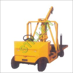 Diesel Operated Platform Truck With Crane