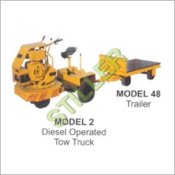 Diesel Operated Tow Truck With Trailer