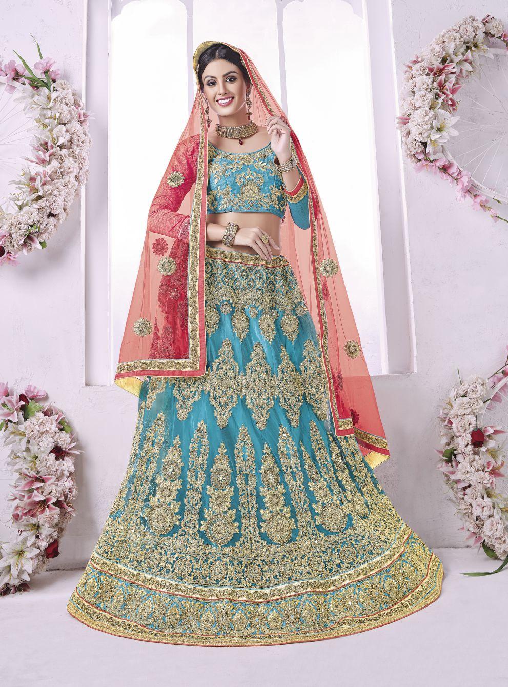 Embroidered Bridal Lehengas