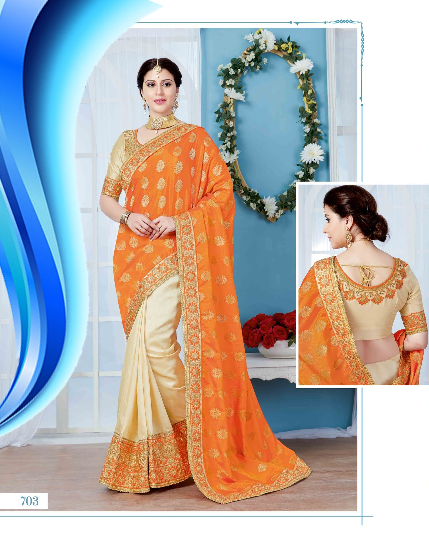 a682d1ce08f022 Silk Embroidered Sarees - Silk Embroidered Sarees Exporter, Importer ...