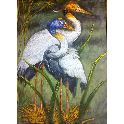 Heron Oil Painting