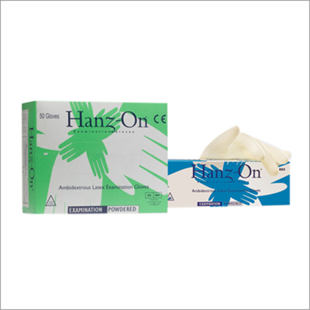 Hanz-on Sterile Latex Examination Gloves Powdered