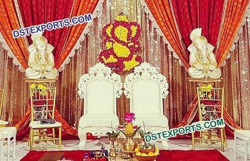 Beautiful Wedding Bride Groom Chairs