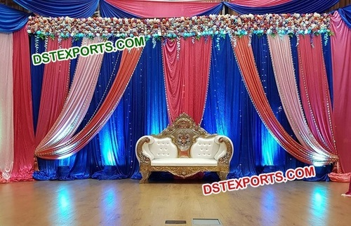 Royal Wedding Stage Backdrop Curtain Decors