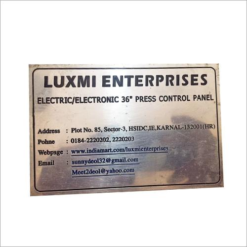 Aluminium Name Plate