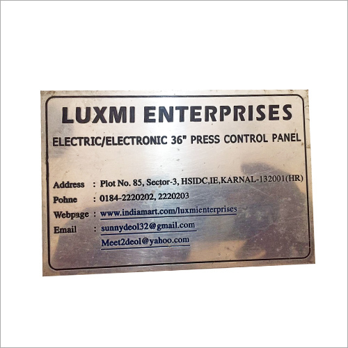 Aluminium Plated Name Plate