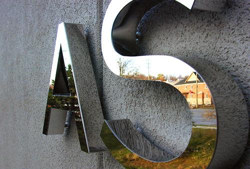 3D Steel Letters