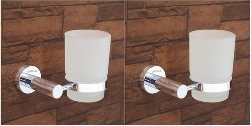 Bathroom Brass Tumbler Holder