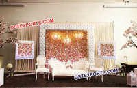 Beautiful Crystal Fitted Leather Wedding Stage