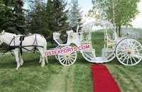 Gold White Cinderella Wedding Carriage