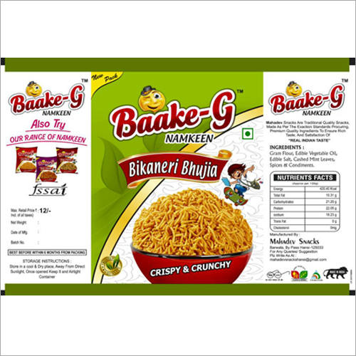 Bikanery Bhujia Printed Packaging Pouches