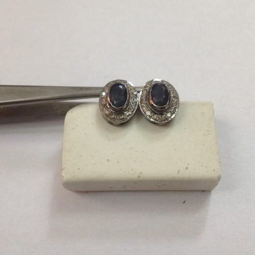 Sapphire Oval Earring