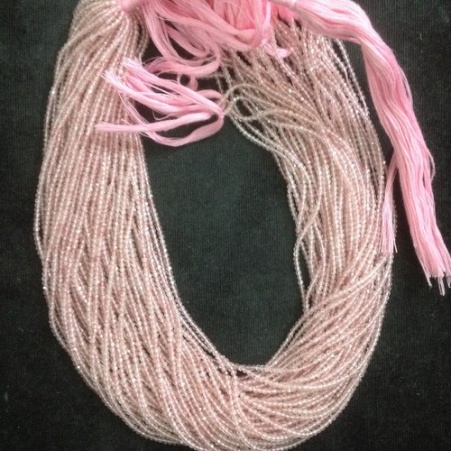 Cherry Quartz Micron Faceted Beads