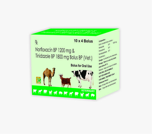 Veterinary Norfloxacin and Tinidazole Bolus