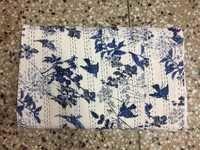 Bird Print Kantha Quilt